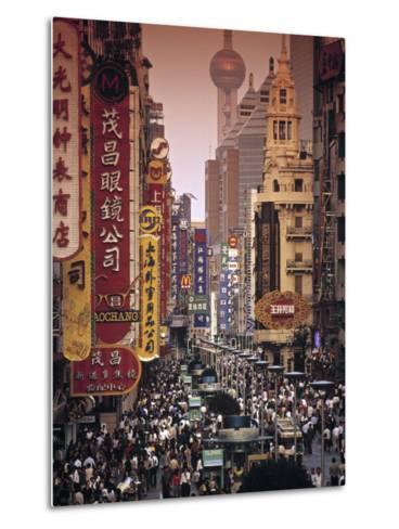 Nanjing Dong Lu, Shanghai, China-Walter Bibikow-Metal Print
