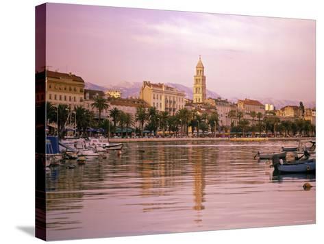 Waterfront at Split, Croatia-Alan Copson-Stretched Canvas Print
