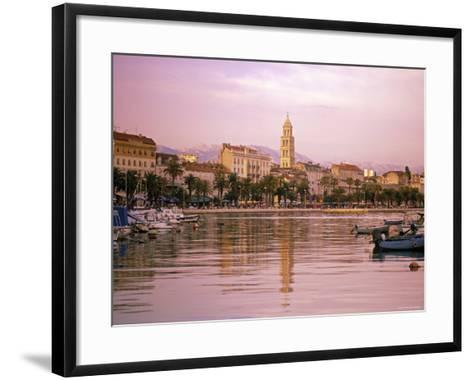 Waterfront at Split, Croatia-Alan Copson-Framed Art Print