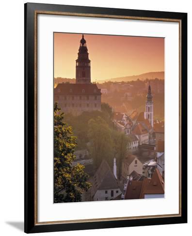 Cesky Krumlov, South Bohemia, Czech Republic-Walter Bibikow-Framed Art Print