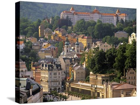 Karlovy Vary Spa Town, West Bohemia, Czech Republic-Walter Bibikow-Stretched Canvas Print