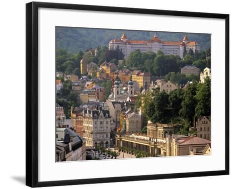 Karlovy Vary Spa Town, West Bohemia, Czech Republic-Walter Bibikow-Framed Art Print