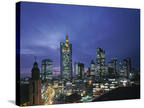 Financial District and Frankfurt Skyline, Germany-Jon Arnold-Stretched Canvas Print