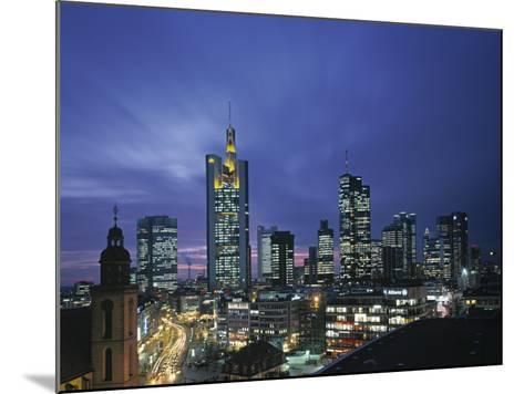 Financial District and Frankfurt Skyline, Germany-Jon Arnold-Mounted Photographic Print