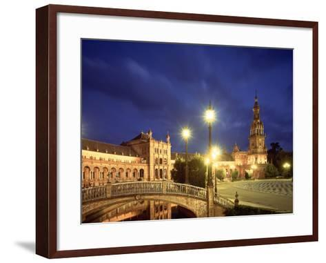 Plaza Espana, Seville, Spain-Jon Arnold-Framed Art Print