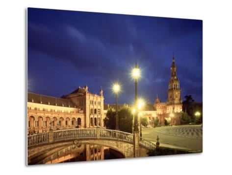 Plaza Espana, Seville, Spain-Jon Arnold-Metal Print
