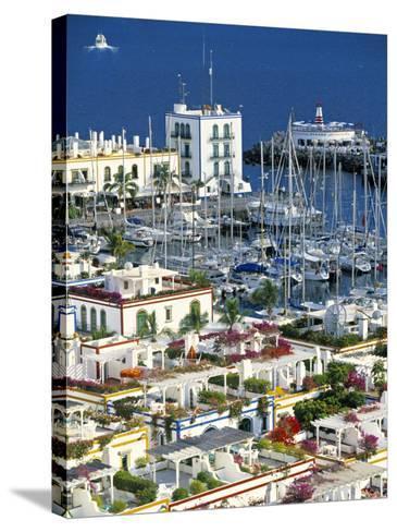 Puerto de Mogan, Gran Canaria, Canary Islands, Spain-Peter Adams-Stretched Canvas Print