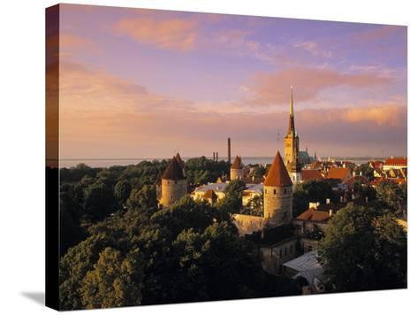 Old Town from Toompea, Tallinn, Estonia-Jon Arnold-Stretched Canvas Print