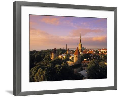 Old Town from Toompea, Tallinn, Estonia-Jon Arnold-Framed Art Print