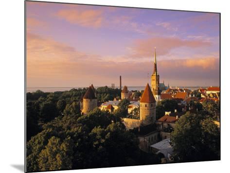 Old Town from Toompea, Tallinn, Estonia-Jon Arnold-Mounted Photographic Print