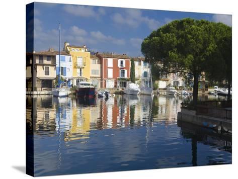 Port Grimaud, Nr St Tropez, Cote d'Azur, France-Peter Adams-Stretched Canvas Print