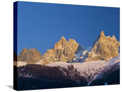 Aiguille du Midi, Chamonix, Haute Savoie, France-Walter Bibikow-Stretched Canvas Print