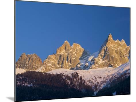 Aiguille du Midi, Chamonix, Haute Savoie, France-Walter Bibikow-Mounted Photographic Print