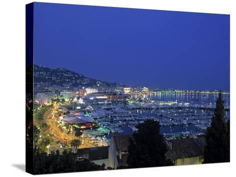 Port, Cannes, Cote d'Azur, France-Walter Bibikow-Stretched Canvas Print