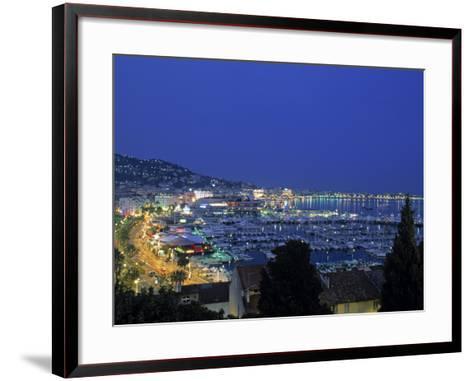 Port, Cannes, Cote d'Azur, France-Walter Bibikow-Framed Art Print
