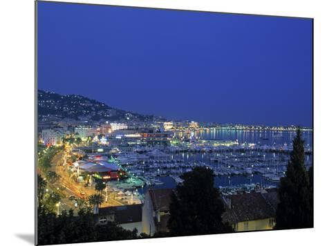Port, Cannes, Cote d'Azur, France-Walter Bibikow-Mounted Photographic Print