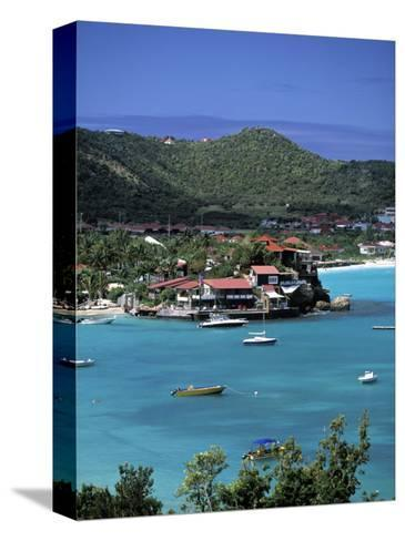 Eden Roc Hotel, St. Jean, St. Barts, French West Indes-Walter Bibikow-Stretched Canvas Print