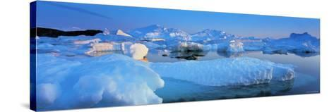 Icebergs, Disko Bay, Greenland-Peter Adams-Stretched Canvas Print