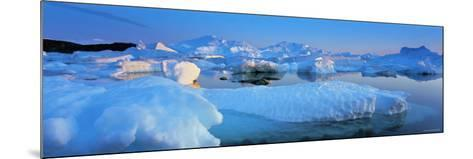 Icebergs, Disko Bay, Greenland-Peter Adams-Mounted Photographic Print