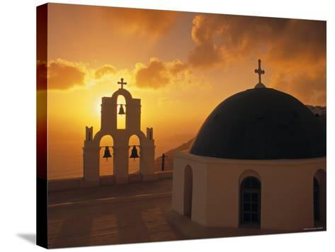 Kimis Theotokov Church, Santorini, Cyclades Islands, Greece-Walter Bibikow-Stretched Canvas Print