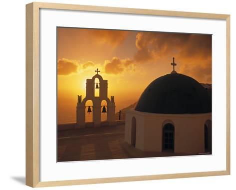 Kimis Theotokov Church, Santorini, Cyclades Islands, Greece-Walter Bibikow-Framed Art Print