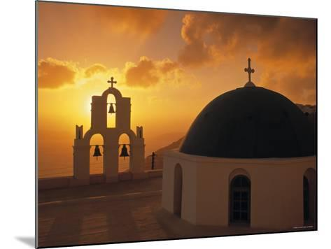 Kimis Theotokov Church, Santorini, Cyclades Islands, Greece-Walter Bibikow-Mounted Photographic Print