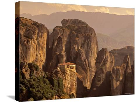 Roussanou Monastery, Meteora, Thessaly, Greece-Walter Bibikow-Stretched Canvas Print