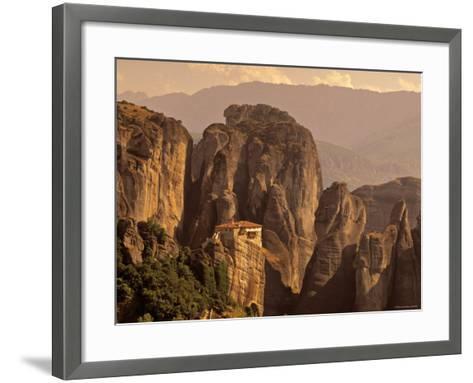 Roussanou Monastery, Meteora, Thessaly, Greece-Walter Bibikow-Framed Art Print