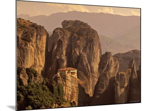 Roussanou Monastery, Meteora, Thessaly, Greece-Walter Bibikow-Mounted Photographic Print