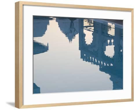 Udai Kothi Hotel Pool, Udaipur, Rajasthan, India-Walter Bibikow-Framed Art Print