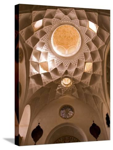 Detail of Tabatabei Traditional House Ceilings, Kashan, Isfahan Province, Iran-Michele Falzone-Stretched Canvas Print