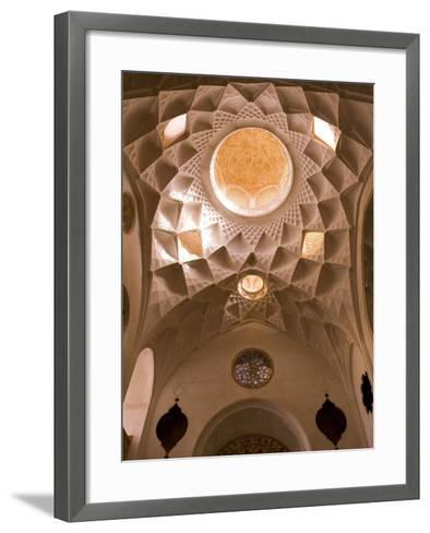 Detail of Tabatabei Traditional House Ceilings, Kashan, Isfahan Province, Iran-Michele Falzone-Framed Art Print