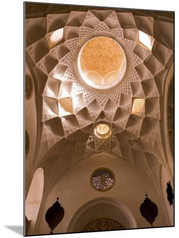 Detail of Tabatabei Traditional House Ceilings, Kashan, Isfahan Province, Iran-Michele Falzone-Mounted Photographic Print