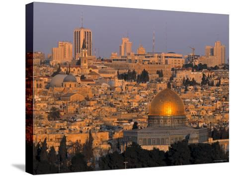 Dome of the Rock, Old City, Jeruslaem, Israel-Jon Arnold-Stretched Canvas Print