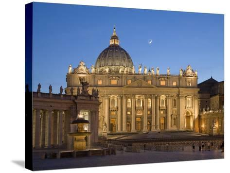 St. Peter's Basilica, the Vatican, Rome, Italy-Michele Falzone-Stretched Canvas Print