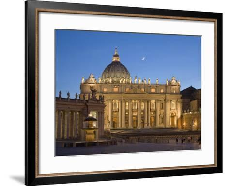 St. Peter's Basilica, the Vatican, Rome, Italy-Michele Falzone-Framed Art Print
