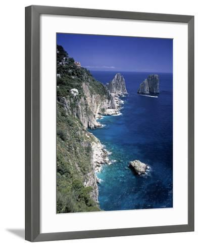 Faraglioni Rocks, Capri, Bay of Naples, Itlay-Gavin Hellier-Framed Art Print