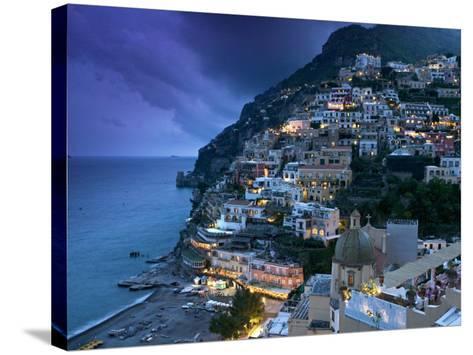 Positano, Amalfi Coast, Italy-Walter Bibikow-Stretched Canvas Print