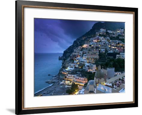 Positano, Amalfi Coast, Italy-Walter Bibikow-Framed Art Print