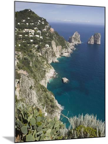Faraglioni Rocks, Capri, Campania, Italy-Walter Bibikow-Mounted Photographic Print
