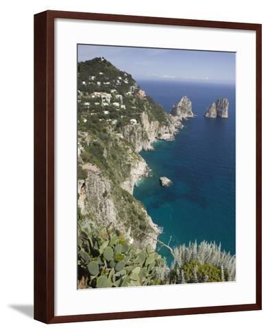 Faraglioni Rocks, Capri, Campania, Italy-Walter Bibikow-Framed Art Print