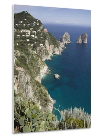 Faraglioni Rocks, Capri, Campania, Italy-Walter Bibikow-Metal Print
