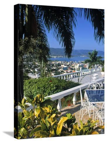 View over Montego Bay, Jamaica-Doug Pearson-Stretched Canvas Print