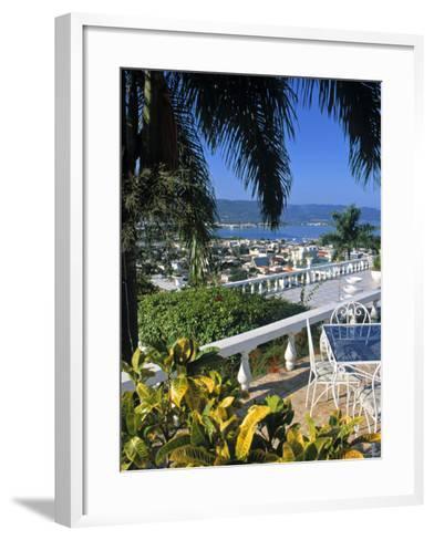 View over Montego Bay, Jamaica-Doug Pearson-Framed Art Print