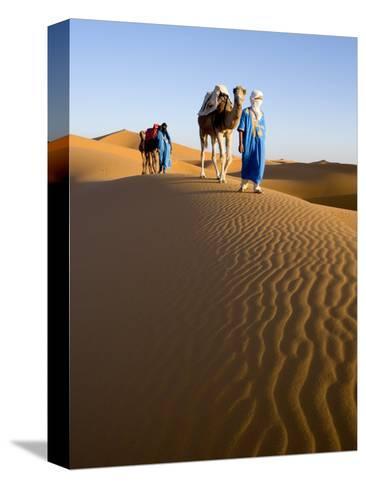 Merzouga, Erg Chebbi, Sahara Desert, Morocco-Gavin Hellier-Stretched Canvas Print