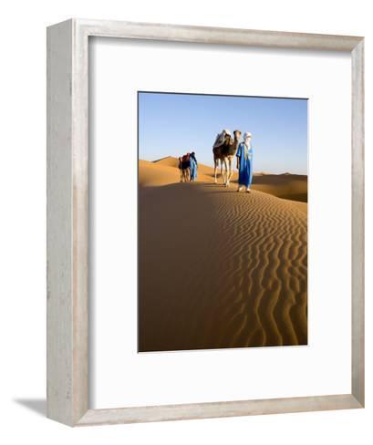 Merzouga, Erg Chebbi, Sahara Desert, Morocco-Gavin Hellier-Framed Art Print