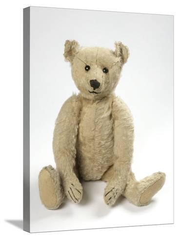 Teddy Bear in Yorkshire Cloth--Stretched Canvas Print