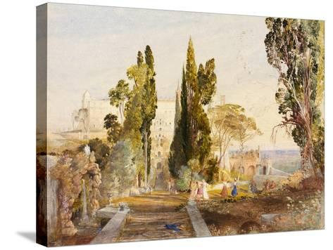 The Villa d'Este, 19th Century-Samuel Palmer-Stretched Canvas Print