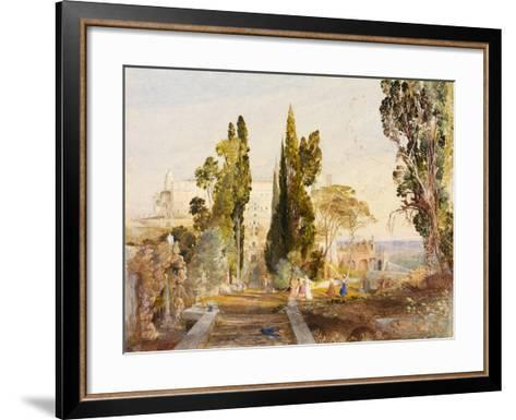 The Villa d'Este, 19th Century-Samuel Palmer-Framed Art Print