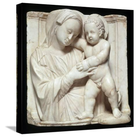 Sculpture of the Virgin and Child in Marble, c.1447-1522-Giovanni Antonio Amadeo-Stretched Canvas Print